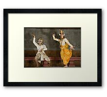 Dance Partners of Cambodia Framed Print