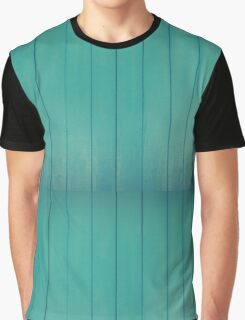 Turquoise Wood Graphic T-Shirt