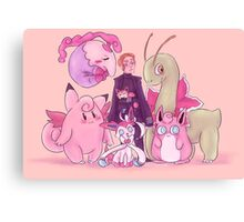 Pink Monsters Canvas Print