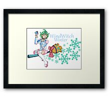 Rin - WindWitch Winter Framed Print