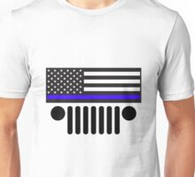 Jeep Police Blue Line Flag Unisex T-Shirt