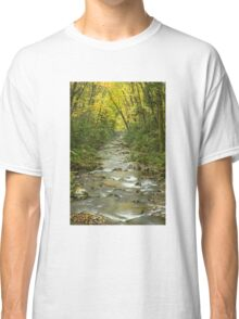 Flowing River in Autumn Classic T-Shirt