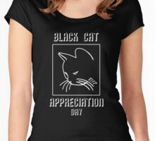 Black Cat Appreciation Day Women's Fitted Scoop T-Shirt