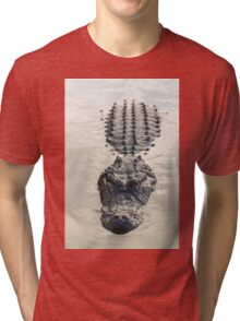 American Alligator floating in water Tri-blend T-Shirt