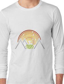Geometric Landscape Long Sleeve T-Shirt