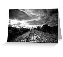 Train Man Greeting Card