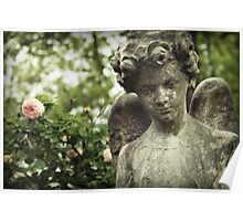 Rose Garden Angel Poster