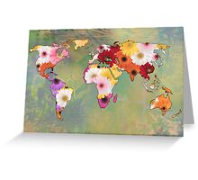Life In Flowers Greeting Card
