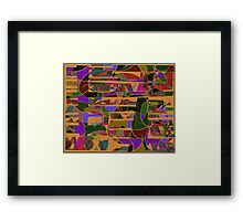 1046 Abstract Thought Framed Print