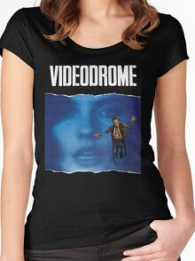 Videodrome Poster Women's Fitted Scoop T-Shirt
