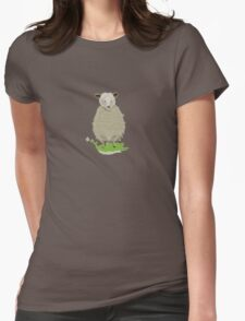 FUZZY SHEEP Womens Fitted T-Shirt