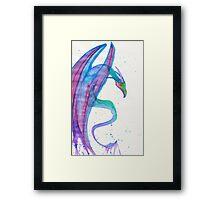 Watercolor Rawr Framed Print