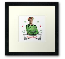 Manuel Neuer Flower Crown Framed Print