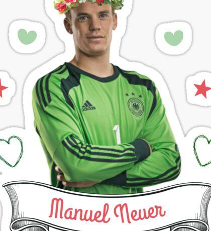 Manuel Neuer Flower Crown Sticker