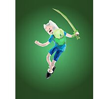 Yut! Finn the Human and the grass sword | Adventure Time Photographic Print