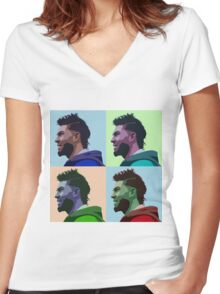 Eric Hosmer Warhol Women's Fitted V-Neck T-Shirt
