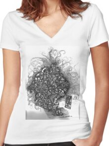 Looking Out Looking In Women's Fitted V-Neck T-Shirt