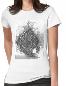 Looking Out Looking In Womens Fitted T-Shirt
