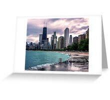 Upset Skyline Chicago Greeting Card