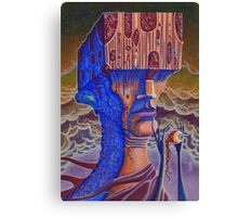 Blind Cube Head Canvas Print