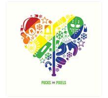 Hockey Heart (Equality) Art Print
