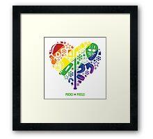 Hockey Heart (Equality) Framed Print