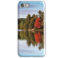Autumn Nature Lake and Trees art photo print iPhone Case/Skin