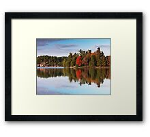 Autumn Nature Lake and Trees art photo print Framed Print
