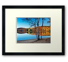Fall nature scenery at Arrowhead lake art photo print Framed Print