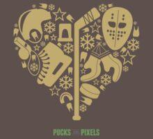 Hockey Heart (Vegas Gold) by pucksandpixels