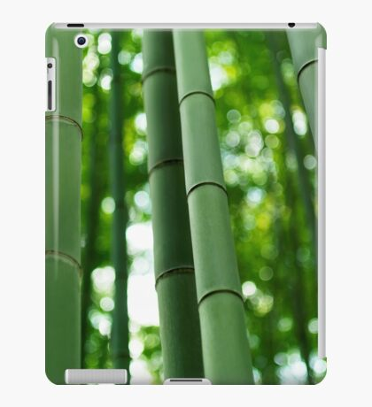 Bamboo forest stems close-up art photo print iPad Case/Skin