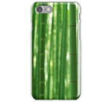 Bamboo forest culms closeup abstract background art photo print iPhone Case/Skin