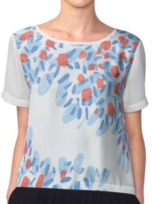 Winter Blossoms Chiffon Top