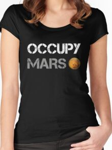 Occupy Mars Shirt Women's Fitted Scoop T-Shirt