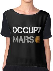 Occupy Mars Shirt Chiffon Top