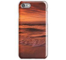 Colorful dramatic sunset over lake Huron panorama art photo print iPhone Case/Skin
