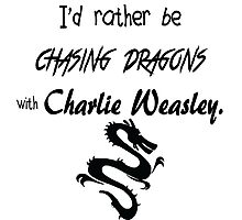Chasing Dragons With Charlie Weasley Photographic Print