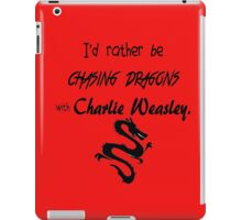 Chasing Dragons With Charlie Weasley iPad Case/Skin