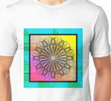 Zentangle on Psychedelic Colors Unisex T-Shirt