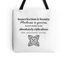Marilyn Monroe Inspirational Quote Tote Bag
