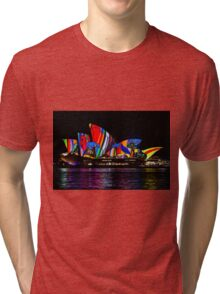 Sydney Vivid 12 Birds In The Landscape Tri-blend T-Shirt