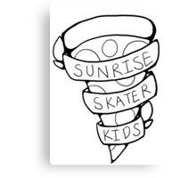 Sunrise Skater Kids Canvas Print