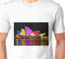 Sydney Vivid 13 Dot Art 4 Unisex T-Shirt