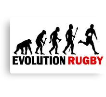 Evolution Of Man and Rugby Funny T Shirt Canvas Print