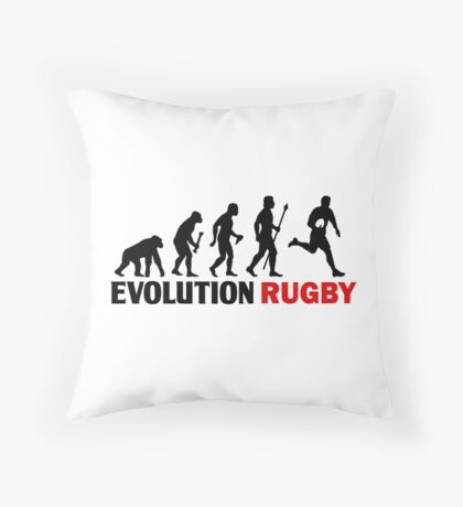 Evolution Of Man and Rugby Funny T Shirt Throw Pillow