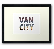 VanCity image within text Framed Print