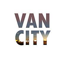 VanCity image within text Photographic Print