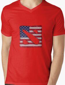 American Dota Mens V-Neck T-Shirt