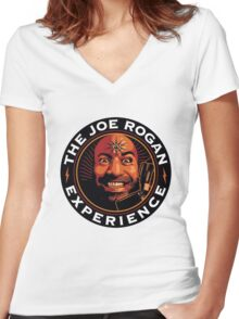 joe rogan - experience Women's Fitted V-Neck T-Shirt
