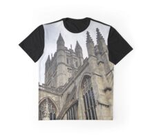 Towers of Bath Abbey in England Graphic T-Shirt